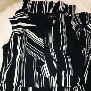 Spenser Jeremy Pants - NEW Spenser Jeremy Women's Striped Ruffle Jumpsuit